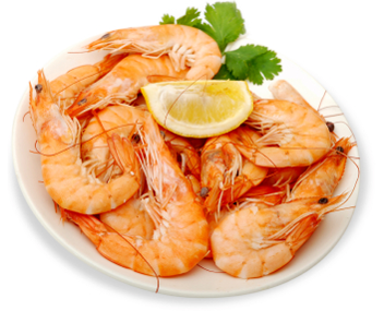What is the boiling time for shrimps