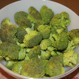 broccoli cut into florets